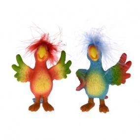Papagáj álló poly 6,5 cm x 9 cm x 5,5 cm/8 cm x 6 cm x 9cm színes 2 féle