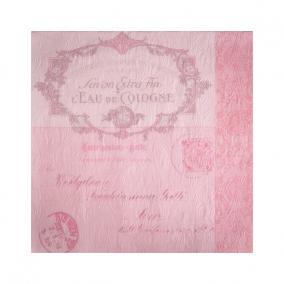 Papír Szalvéta 3 rétegű - Fiorentina Lettre rózsaszín 33x33cm rózsaszín [16 db]