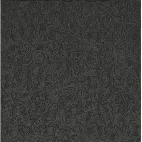 Papír Szalvéta 3 rétegű - Fiorentina uni fekete 33x33cm fényes fekete [20 db]