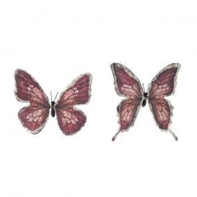 Pillangó csipesszel papír 11 cm mályva [6 db]