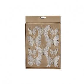 Pillangó csipeszes glitteres pezsgő [10 db]