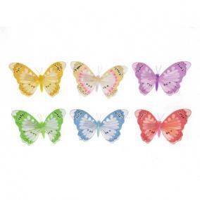 Pillangó csipeszes színes 10cm [6 db]