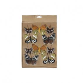 Pillangó csipeszes többszínű 4 féle [10 db]