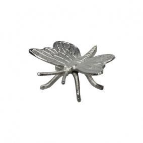 Pillangó fém 12x12 cm ezüst