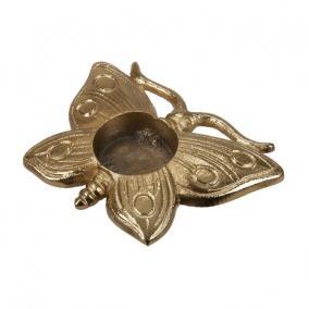 Pillangó mécsestartó alumínium 13cm x 9cm arany