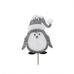 Pingvin betűzős hungarocell 15 cm szürke/fehér [4 db]