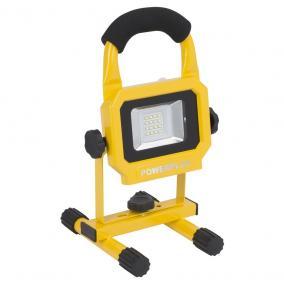 PowerPlus sárga LED reflektor 10W akkumultáros POWLI226