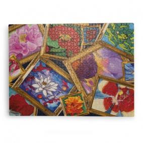 Puzzle, művészképek virágokról