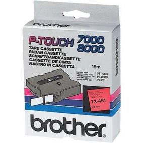 P-Touch Brother TZe-451 (24mm, piros/fekete)