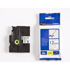P-Touch Brother TZe-FX231 (12mm, fehér/fekete flexibilis)