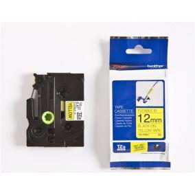 P-Touch Brother TZe-FX631 (12mm, sárga/fekete flexibilis)