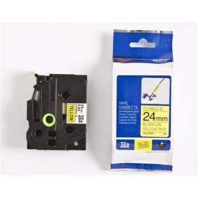 P-Touch Brother TZe-FX651 (24mm, sárga/fekete flexibilis)