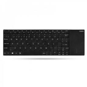 Rapoo e2710 vez.nélküli billentyűzet, touchpad, fekete - Hama, 157233, HUN
