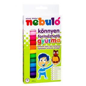 Gyurma, színes, 12 darabos, NEBULÓ