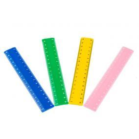Vonalzó, 16 cm, NEBULO, vegyes színek [1 db]