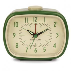 Ébresztőóra, retro, zöld