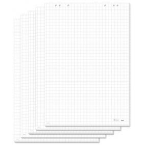 Flipchart papír, négyzethálós, 68x98 cm, 5x20 lap, SIGEL [100 lap ]