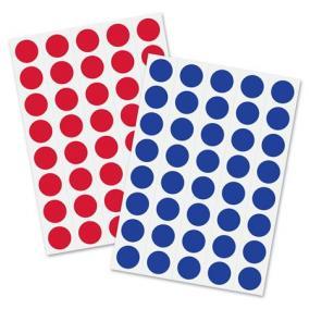 Moderációs jelölőpontok 18 mm kör, SIGEL, 1040 db/csomag, piros és kék [1040 db]