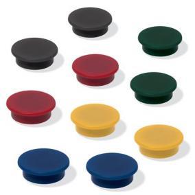 Mágneskorong, 25 mm, 10 db/csomag, SIGEL, 4 különböző szín [10 db]