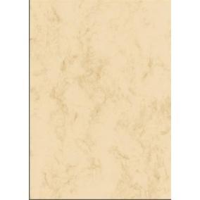 Előnyomott papír, kétoldalas, A4, 200 g, SIGEL, bézs, márványos [50 lap]