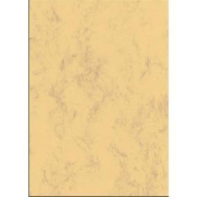 Előnyomott papír, kétoldalas, A4, 200 g, SIGEL, homokbarna, márványos [50 lap]