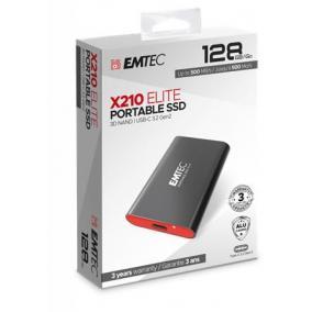 SSD (külső memória), 128GB, USB 3.2, 500/500 MB/s, EMTEC