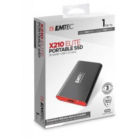 SSD (külső memória), 1TB, USB 3.2, 500/500 MB/s, EMTEC