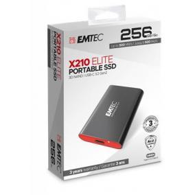SSD (külső memória), 256GB, USB 3.2, 500/500 MB/s, EMTEC