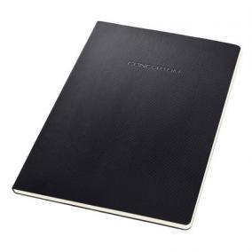 Füzet, exkluzív, A4, kockás, 60 lap, lyukasztott, keményfedeles, SIGEL