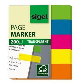 Jelölőcímke, műanyag, 5x40 lap, 12x50 mm, SIGEL