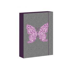 Füzetbox, A4, Butterfly Jeans-Jumbo