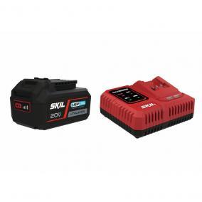 "SKIL RED BC1E3111AA akkumulátor +töltő 20V Max (18 V-os) 4,0 Ah ""KeepCool"" Li-ion"