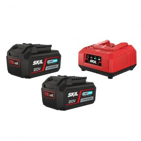 "SKIL RED BC1E3112BA akkumulátor +töltő 20V Max (18 V-os) 2x4,0 Ah ""KeepCool"" Li-ion"