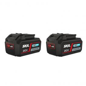 """SKIL RED BR1E3105BA """"20V Max"""" (18 V-os) 5,0 Ah """"Keep Cool"""" Li-ion akkumulátor 2db"""