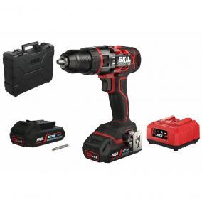 SKIL RED CD1E3070HA Brushless akkus ütvefúró 2x2,5Ah  20V +  koffer