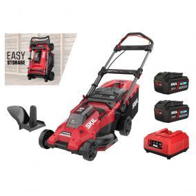 SKIL RED GM1E0140BA akkus Brushless fűnyíró 43cm 2x4,0Ah  20V