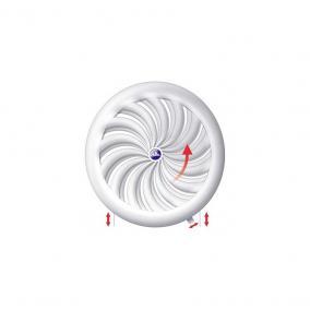 STR Awenta T95a szellőzőrács fehér, hálóval 110/135 mm (2210531)