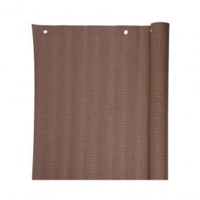 Árnyékoló háló / betekintésgátló ponyvakarikával 800g/m2 barna 0,9x3 m