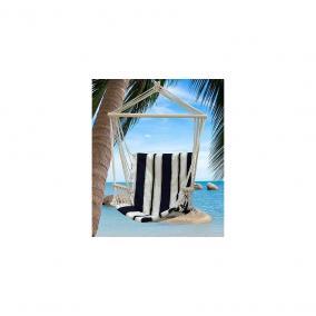 STR függőfotel Craig kék-fehér pamut max. 150kg 100x50cm (802162)