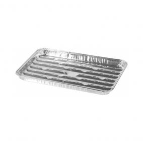 Grill alu téglalap alakú tál 34x23x2,5 cm  3db/csomag STR  (2212286)