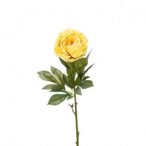 Selyemvirág Peonia 71cm sárga