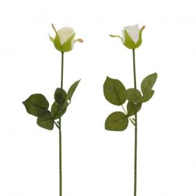 Selyemvirág Rózsa 30 cm krém,fehér
