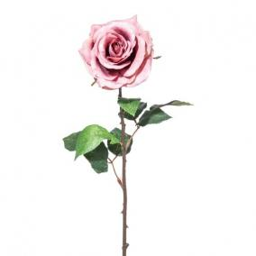 Selyemvirág Rózsa 52cm antik rózsaszín