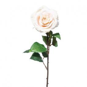 Selyemvirág Rózsa 52cm bézs