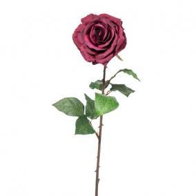 Selyemvirág Rózsa 52cm bordó
