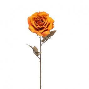 Selyemvirág Rózsa 66cm antik narancs