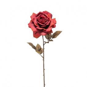 Selyemvirág Rózsa 66cm antik piros