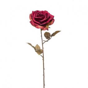 Selyemvirág Rózsa 66cm antk bordó