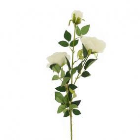 Selyemvirág Rózsa szálas 3 virággal 102 cm fehér