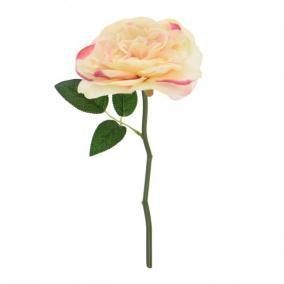 Selyemvirág Rózsaszál 23cm barack